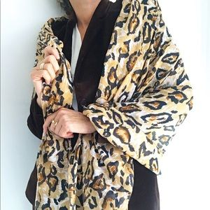 Leopard Cheetah Print Oversized Scarf Shawl